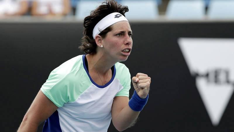 Carla Suárez, en un reciente partido del Open de Australia.