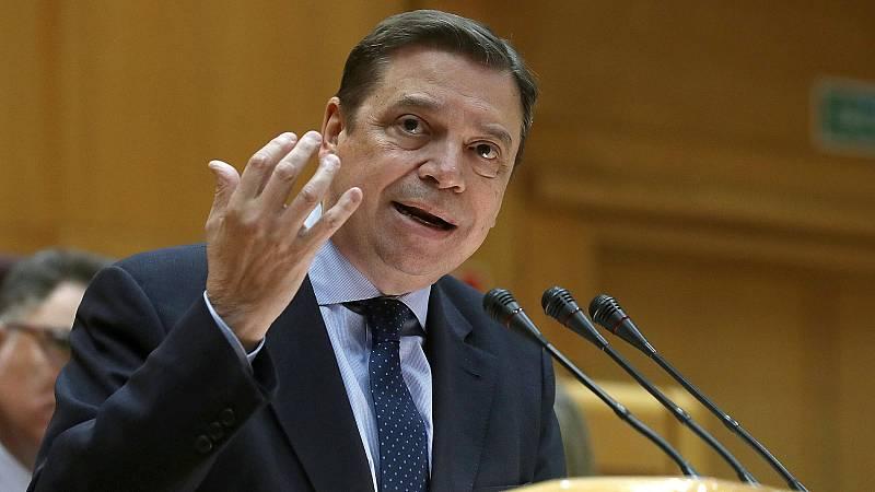 El ministro Luis Planas, el 11 de febrero en el Senado