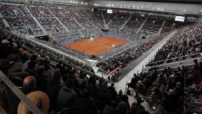 Vista general de la pista central Manolo Santana del Madrid Open.