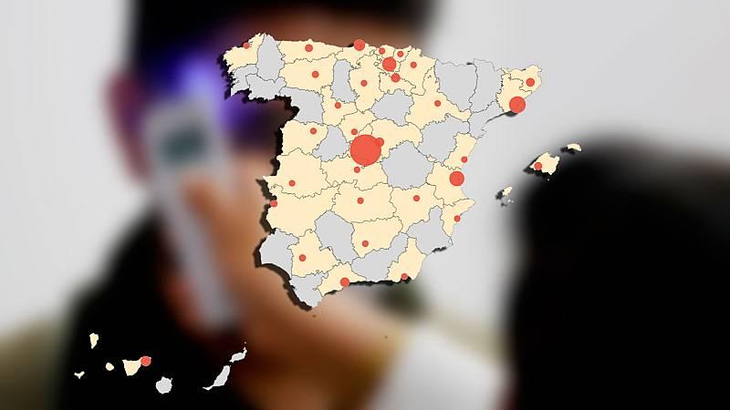 El mapa del coronavirus en España: 2.182 muertos y más de 33.000 casos