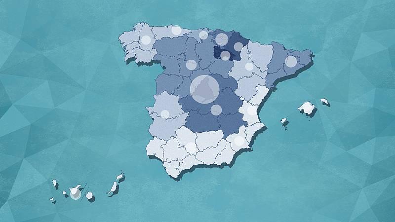 El mapa en España: 13.169 muertos y más de 135.000 casos