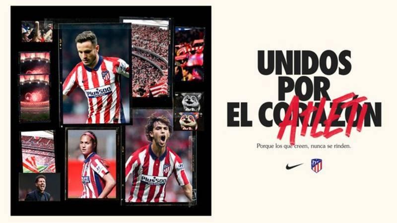 Imágenes de la nueva camiseta del Atético para la próxima temporada.