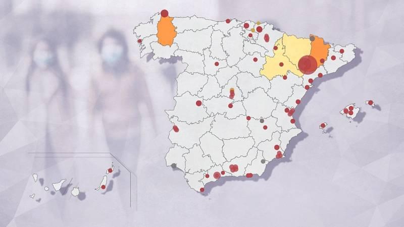 El mapa de los brotes de coronavirus en España: 73 focos continúan activos