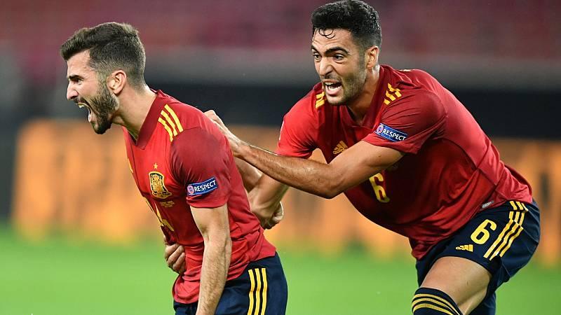 Gayá rescata en el tiempo extra un empate para España en Alemania