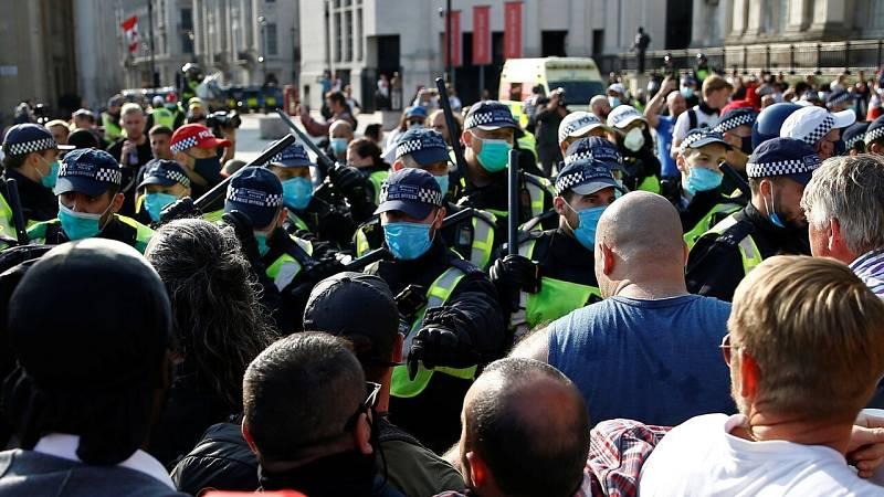 Manifestación en Trafalgar Square el pasado 19 de septiembre