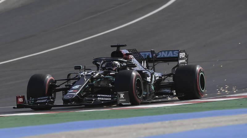 Lewis Hamilton, en el GP de Portugal.