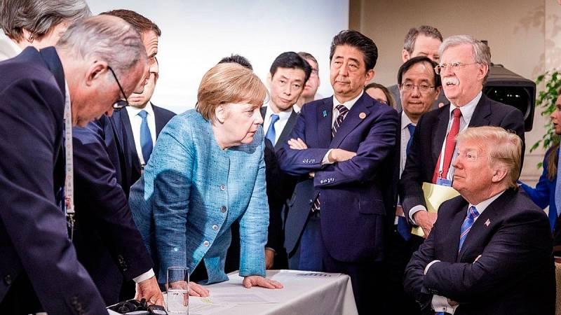 Imagen del G7 difundida por el Gobierno alemán