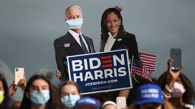 Cartel en apoyo de Joe Biden y Kamala Harris