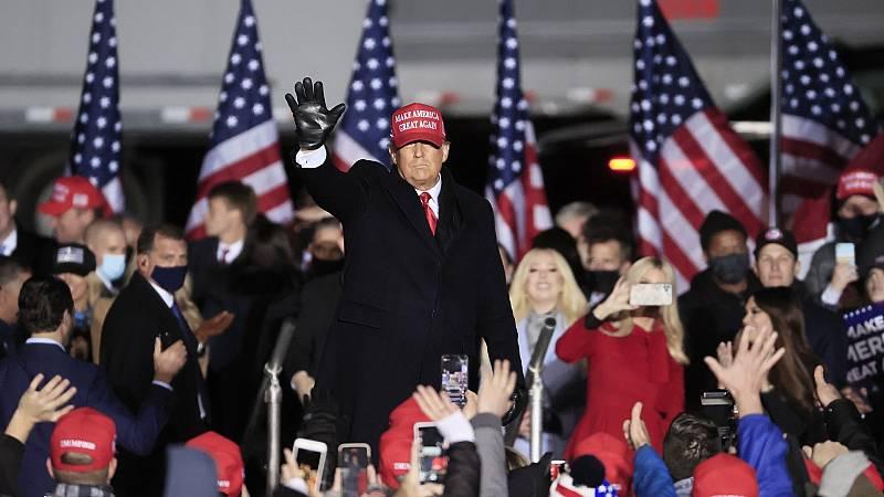 """Trump: """"Mañana vamos a hacer historia de nuevo"""""""