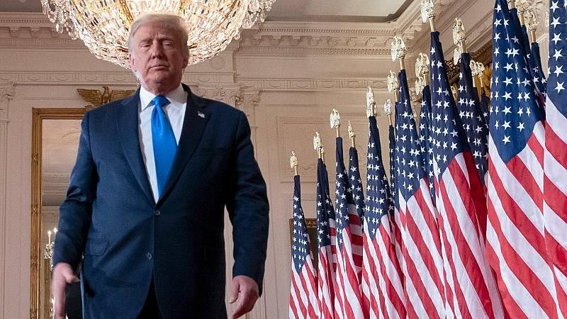 Donald Trump, en la Casa Blanca durante la noche electoral