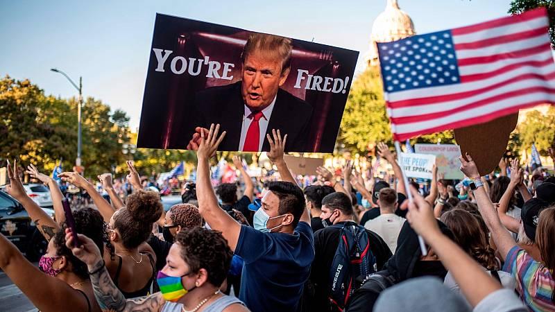 Partidarios de Biden celebran la victoria del demócrata en las elecciones de Estados Unidos