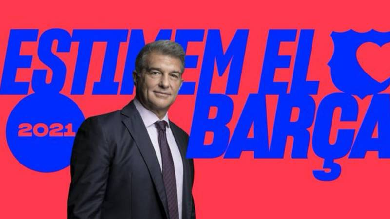 Imagen de la candidatura de Joan laporta a la presidencia del FC Barcelona.