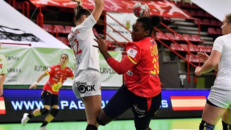 La jugadora de la selección española de balonmano Kaba Gassama.