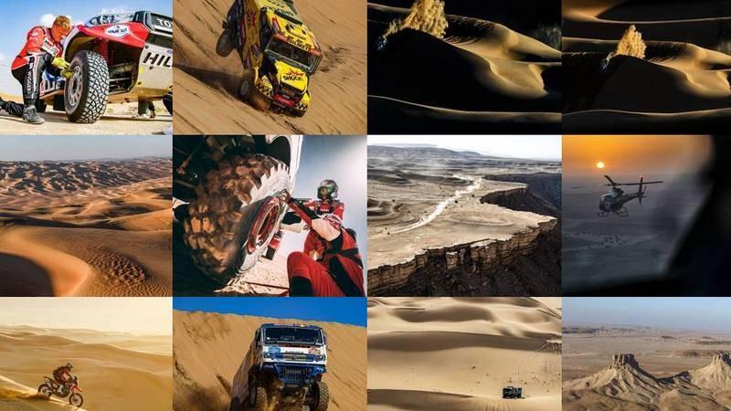 Fotomontaje del Rally Dakar 2021.