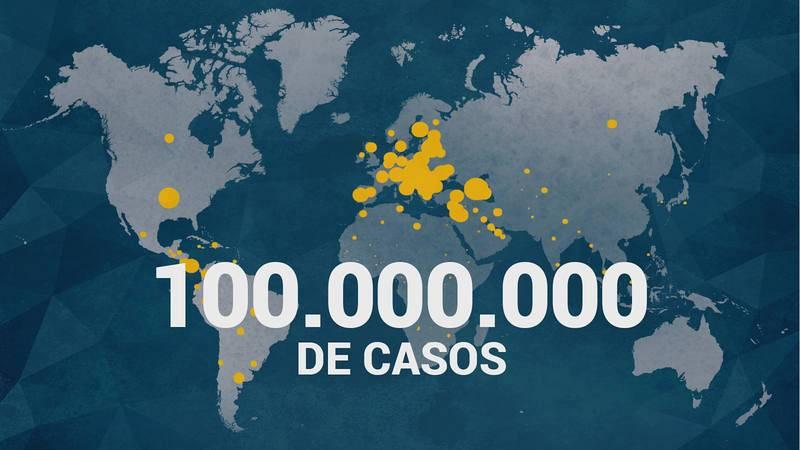 Con más de 100 millones de contagios en un año, el coronavirus se ha extendido por los cinco continentes.