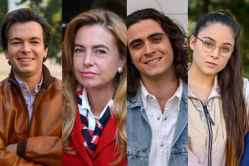 Carlos Serrano-Clark, Lola Baldrich, Pablo Álvarez y Paula Morago