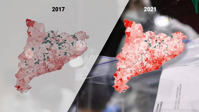 Resultado de las elecciones catalanas del 14 F municipio a municipio