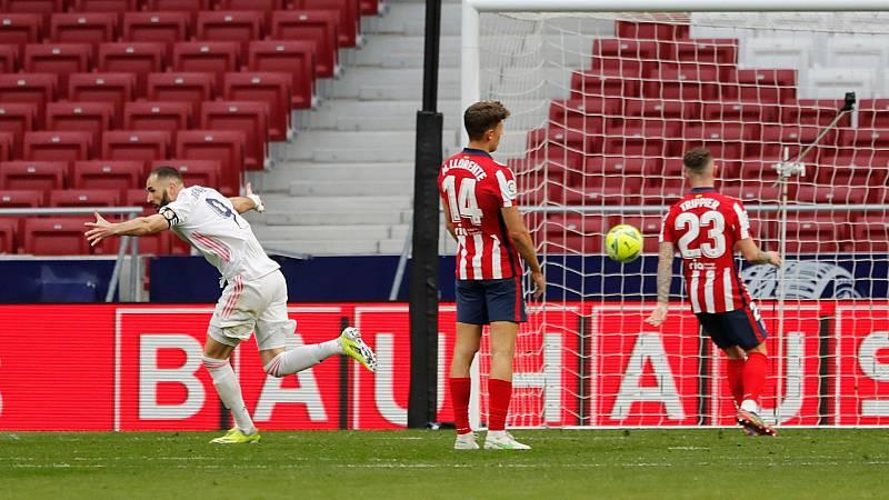 Benzema salva un punto para el Madrid en el Wanda y mantiene la Liga a flor de piel