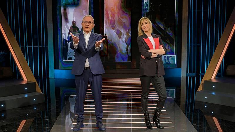 Xavier Sardà i Ana Boadas al plató d'Obrim fil'