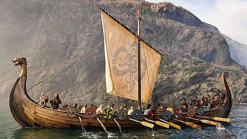Representación de una embarcación vikinga