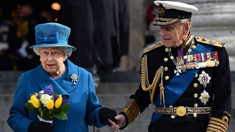 La reina Isabel II y el príncipe Felipe, duque de Edimbrugo