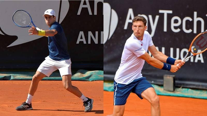 Jaume Munar (i) y Pablo Carreño (d), finalistas del ATP 250 de Marbella.