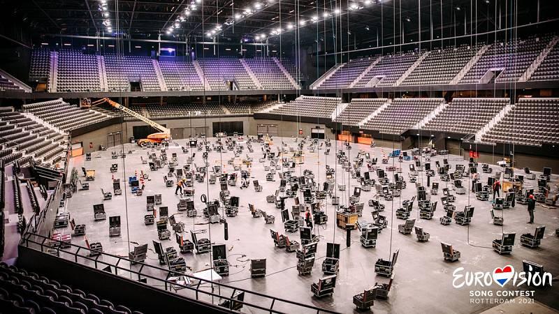 Comienza la construcción del escenario de Eurovisión en el Rotterdam Ahoy
