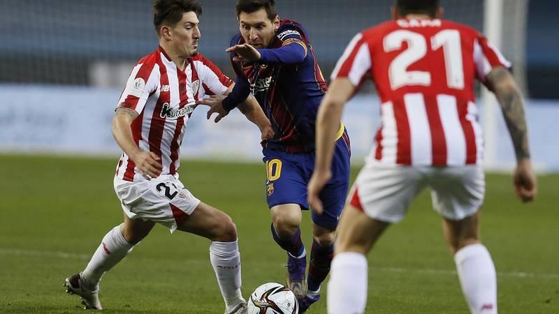Imagen de la Supercopa de España entre el Athletic Club y el FC Barcelona.
