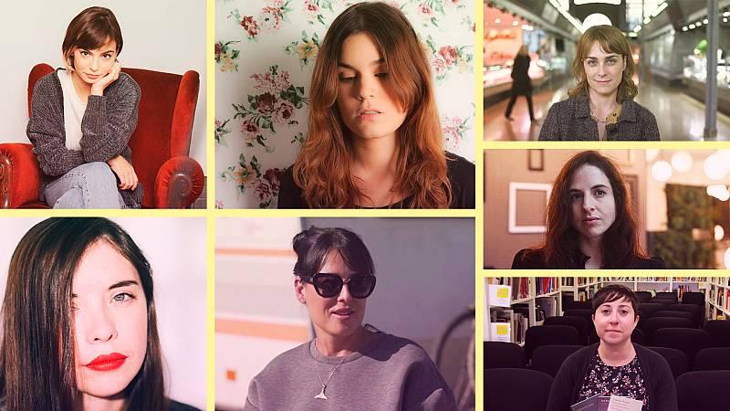 Sara Mesa, Elena Medel, Andrea Abreu, María Perezagua, Cristina Morales, Elvira Sastre y Luna Miguel
