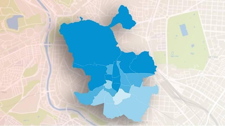 Resultados del 4M por distritos: Ayuso conquista Vallecas, el último feudo de la izquierda, y tiñe de azul la capital