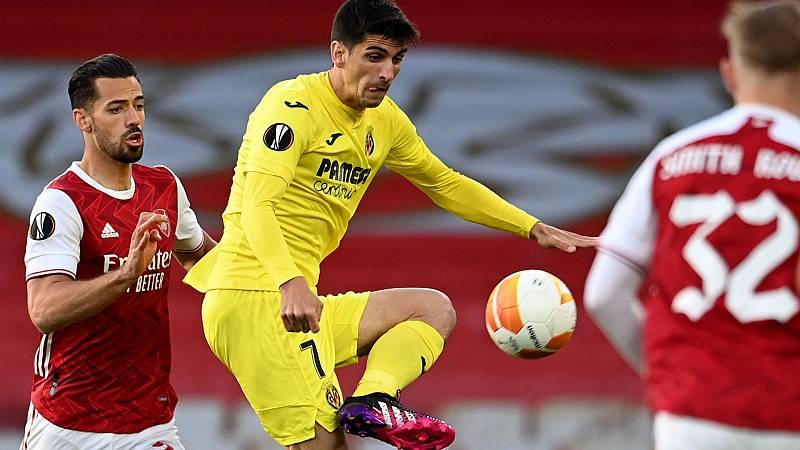 Gerard Moreno, en acción ante el Arsenal