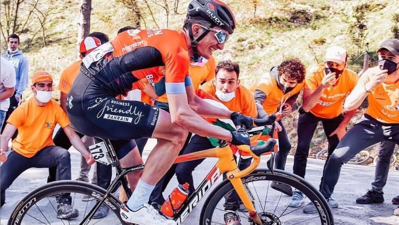 El ciclista vasco Pello Bilbao en una imagen de su instragram.