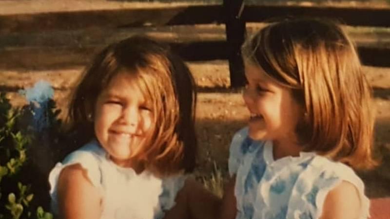 Patricia e Isabella Ruiz de Rato cuando eran pequeñas