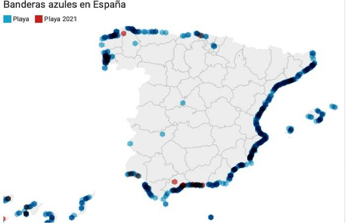 España vuelve a batir récord con 713 banderas azules, 25 más que en 2020