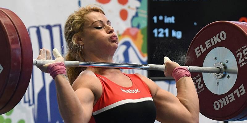 Lydia Valentin, durante la Copa de España de halterofilia