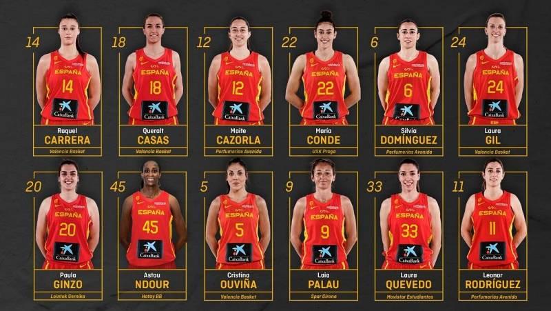 Las 12 jugadoras elegidas por Mondelo para el Eurobasket