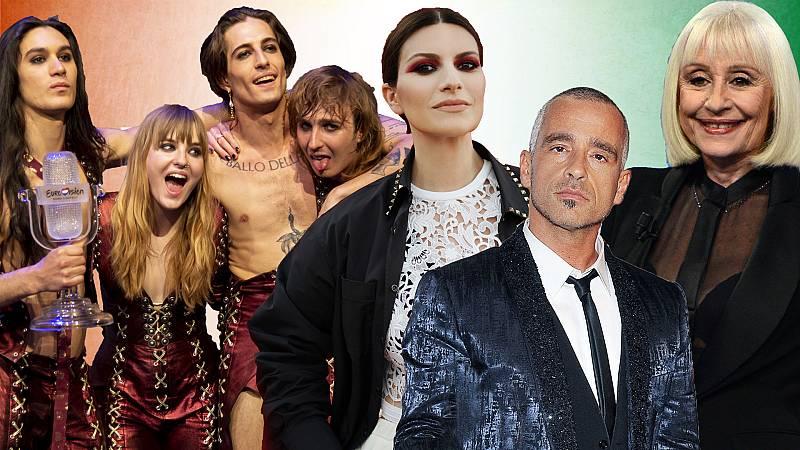 Raffaella Carrà, Eros Ramazzoti o Laura Pausini: todos estos cantantes italianos triunfaron antes que Måneskin