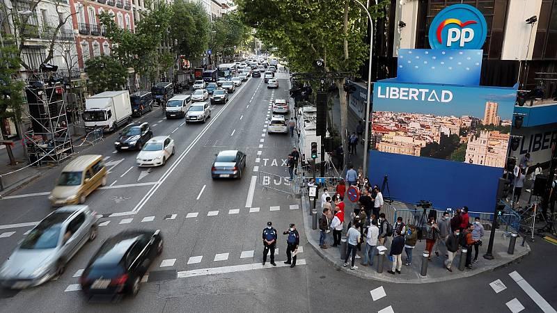 La sede del Partido Popular, en la madrileña calle Génova