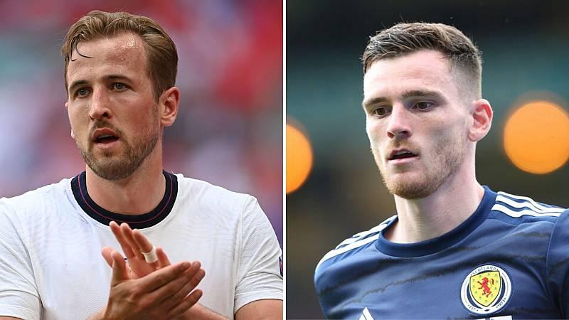 Kane y Robertson en un partido de la presente Eurocopa