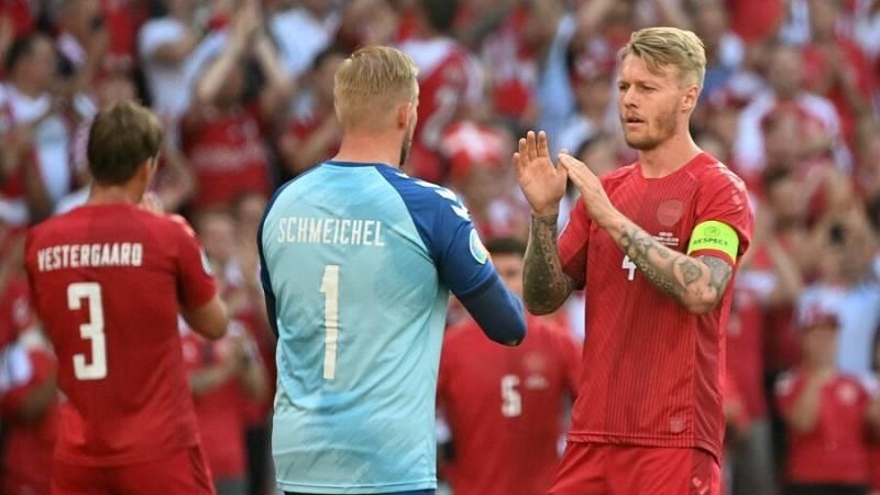 Imagen del partido entre Dinamarca y Bélgica de la Eurocopa 2020