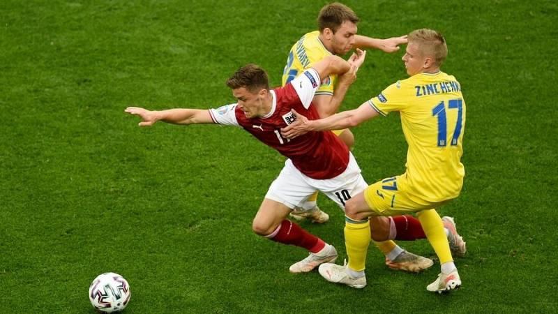 Imagen del partido Ucrania-Austria de la Eurocopa 2020