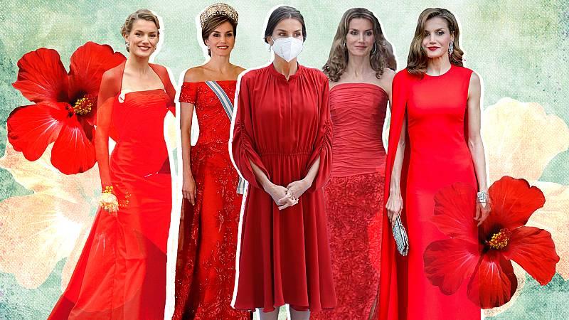 La reina Letizia y sus 10 mejores vestidos rojos
