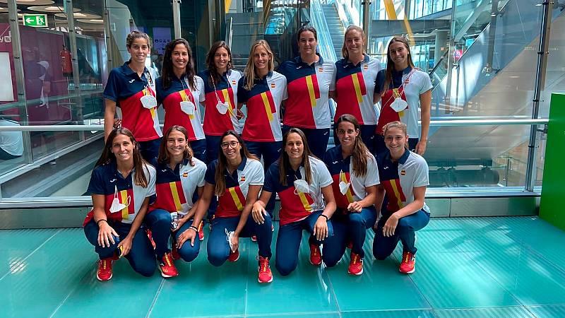 Las componentes de la Selección Nacional de Waterpolo femenino