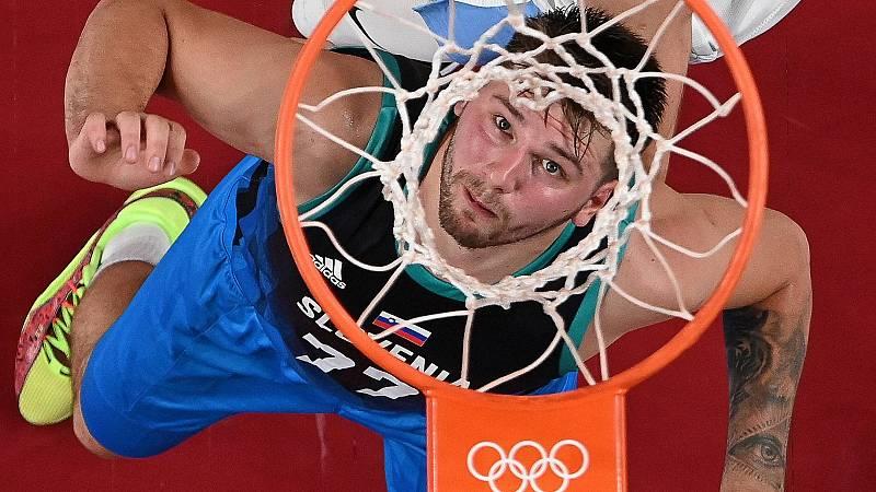 El jugador de baloncesto esloveno Luka Doncic, en Tokyo 2020