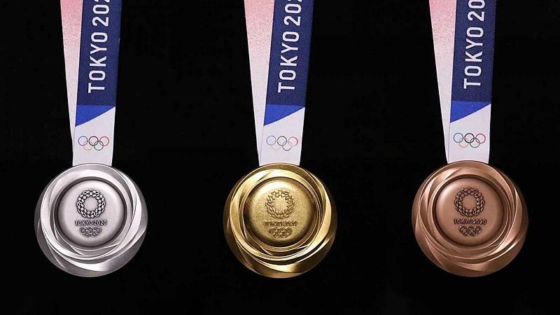 Imagen de archivo de las medallas para Tokyo 2020