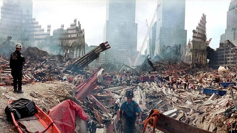 Vista del World Trade Center el 24 de septiembre de 2001