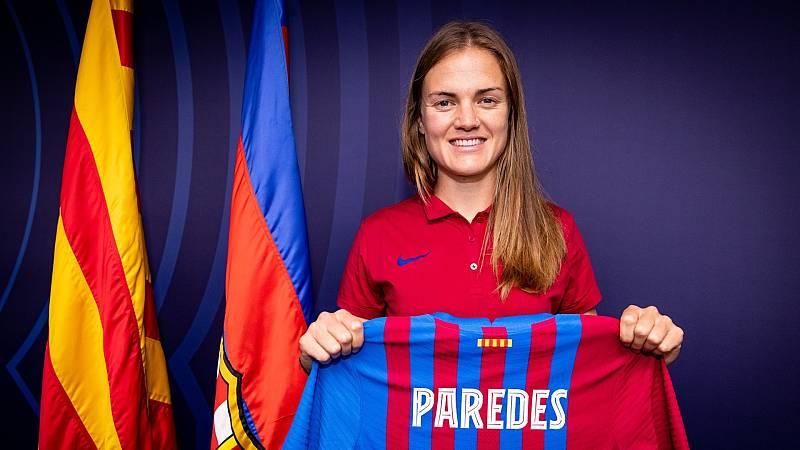 Irene Paredes, en su acto de presentación como jugadora del Barcelona
