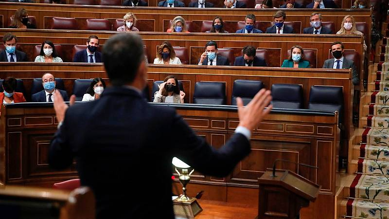 Barométro CIS septiembre: Pedro Sánchez y Pablo Casado, en el Congreso de los Diputados