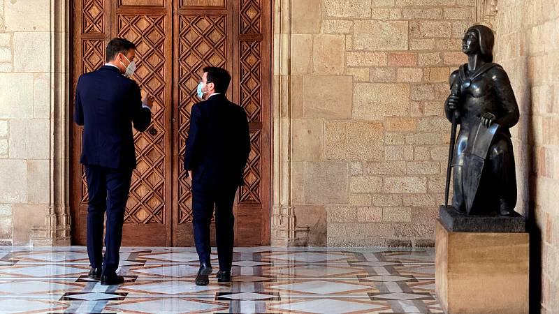 Sánchez, Aragonès y la 'odisea' del diálogo sobre Cataluña