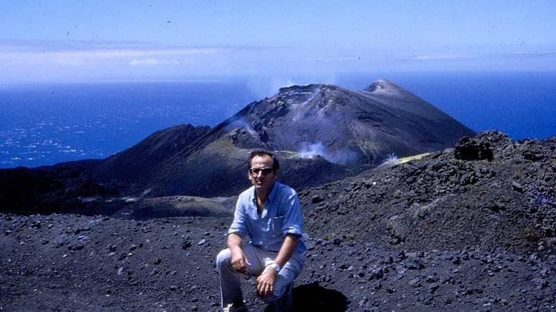 Ovidio Cordero, en la erupción del Teneguía de 1971